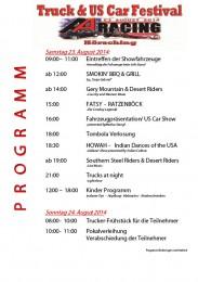 Truck & US Car Festival Programm